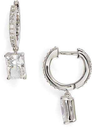 Nadri Baguette Cut Crystal Drop Earrings