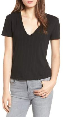 ALL IN FAVOR Rib Knit Tee