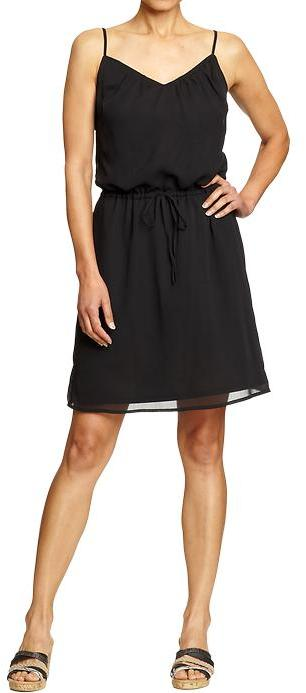 Women's Chiffon Cinch-Tie Dresses