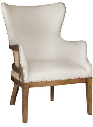 HomeFare Curved Back Arm Chair - Linen
