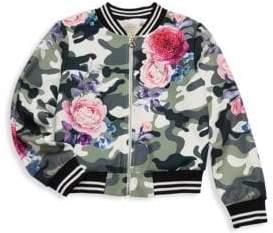 Hannah Banana Little Girl's & Girl's Camouflage Floral Jacket