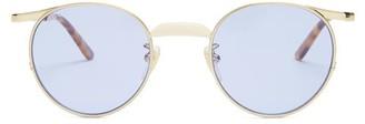 Gucci - Round Frame Sunglasses - Mens - Gold