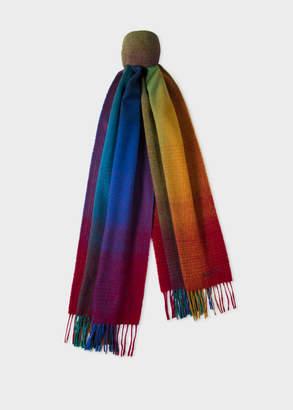 Paul Smith Men's Multi-Coloured Gradient Lambswool Scarf
