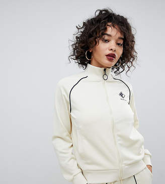 Fila tracksuit jacket with chest logo and contrast piping in rib knit two-piece