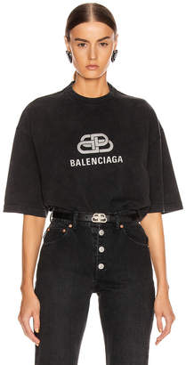 Balenciaga BB Regular T Shirt in Anthracite | FWRD