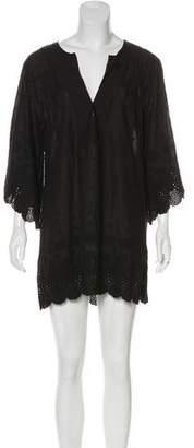 Vix Paula Hermanny Embroidered Mini Dress