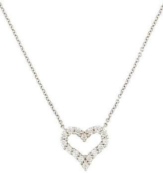 Tiffany & Co. Platinum Diamond Heart Pendant Necklace