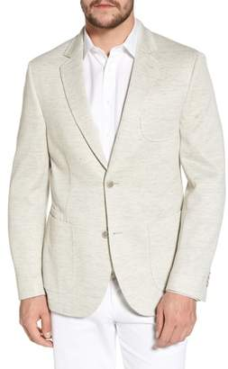 FLYNT Classic Fit Heathered Jersey Sport Coat