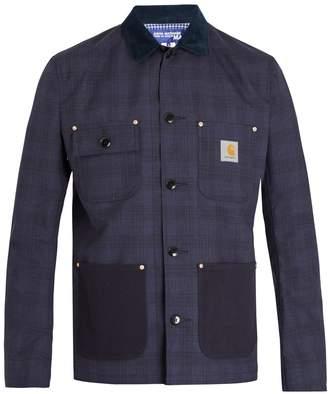 Junya Watanabe X Carhartt water-repellent checked wool jacket