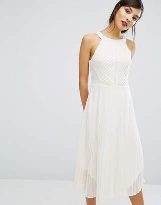 Oasis Pleat Asymmetric Hem Midi Dress $122 thestylecure.com