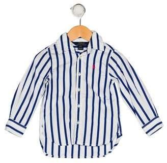 Polo Ralph Lauren Girls' Striped Button-Up Top