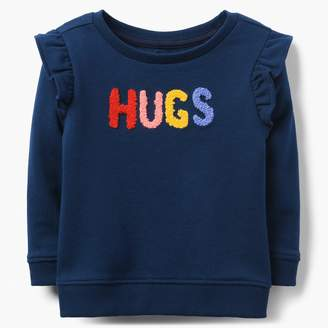 Gymboree Hugs Ruffle Sweatshirt