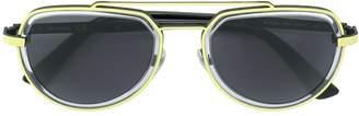 Diesel aviator frame sunglasses