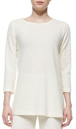 Caroline RoseCaroline Rose Ottoman Knit 3/4-Sleeve Tunic, Plus Size