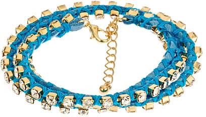 Blu Bijoux Crystal Wrap Bracelet