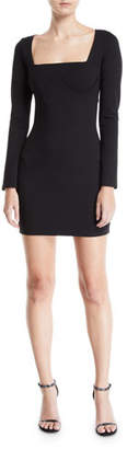 Donna Mizani Romana Long-Sleeve Cutout-Back Mini Dress