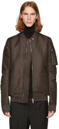 Rick Owens Grey Flight Bomber Jacket