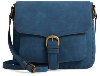 Elle & Jae Gypset 'Mauritius' Faux Leather Crossbody Bag - Blue $88 thestylecure.com