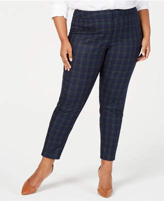 Tommy Hilfiger Plus Size Plaid Straight-Leg Pants