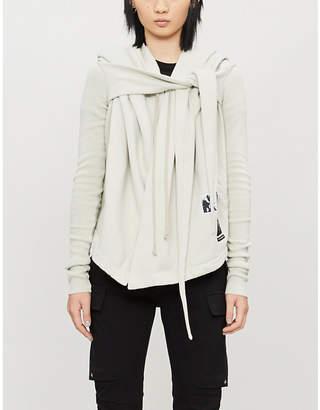 Rick Owens Asymmetric-hem cotton-jersey hoody