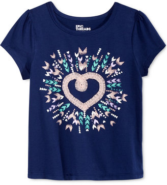 Epic Threads Mix and Match Tulle Heart Graphic-Print T-Shirt, Toddler & Little Girls (2T-6X), Only at Macy's $16 thestylecure.com