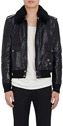 Saint Laurent Men's Calfskin & Sheep Shearling Bomber Jacket $5,490 thestylecure.com