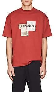 Filling Pieces Men's Guggenheim Museum-Print Cotton T-Shirt - Orange