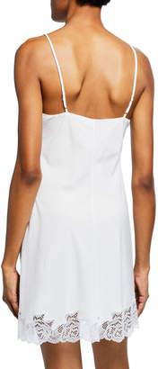 Natori Lace-Trim Cotton Chemise