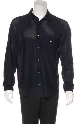 Opening Ceremony Mesh Button-Up Shirt