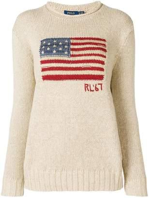 Polo Ralph Lauren (ポロ ラルフ ローレン) - Polo Ralph Lauren フラッグ セーター