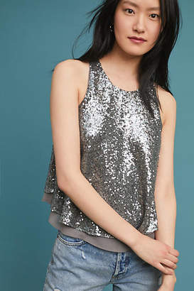 Sunday in Brooklyn Midnight Sequin Top