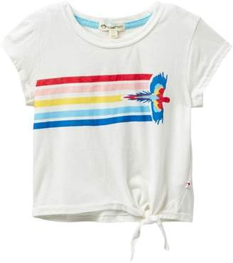 Appaman Phing Side Tie Bright Flight Parrot Tee (Toddler, Little Girls, & Big Girls)