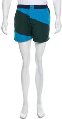 Kenzo Colorblock Short Shorts Swim Trunks w/ Tags