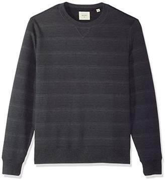 Billy Reid Men's Blurred Stripe Crewneck Sweatshirt