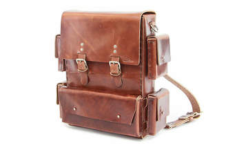 Colsenkeane Leather No. 1116 Havana Brown Leather Backpack