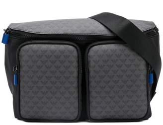 Emporio Armani logo patterned belt bag