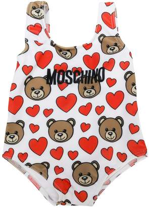 Moschino Kids toy heart print swimsuit