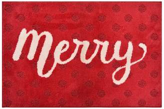 St Nicholas Square Supersoft Merry Holiday Rug - 24'' x 36''