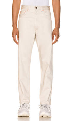 Levi's 5 Pocket Sateen Pant in Creme Brulee | FWRD