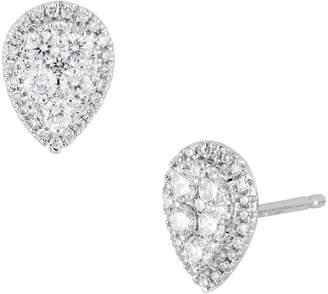 Bony Levy Mika Diamond Pear Shape Stud Earrings