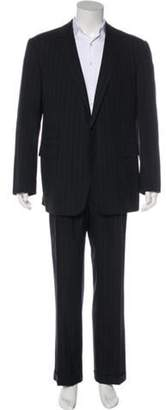 Ralph Lauren Purple Label Wool and Cashmere Pinstripe Two-Piece Suit black Wool and Cashmere Pinstripe Two-Piece Suit