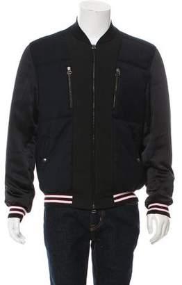 Lanvin Woven Zip-Up Bomber Jacket