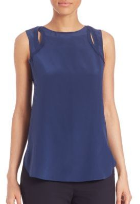 3.1 Phillip Lim Silk Cutout Tank Top
