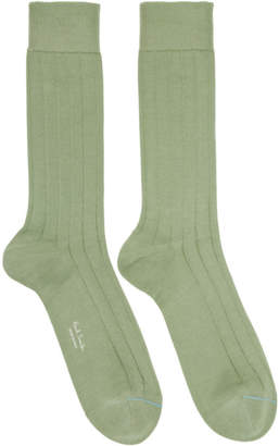 Paul Smith Green Contrast Toe Link Socks