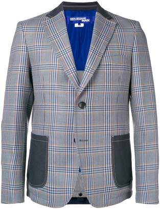 Junya Watanabe patchwork checked blazer