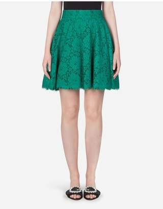 Dolce & Gabbana Short Cordonetto Lace Skirt