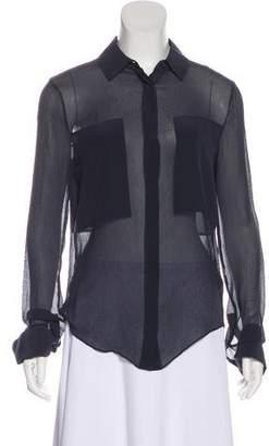Alexander Wang Long Sleeve Silk Top