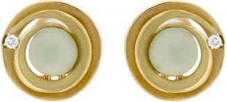 Dune Annamaria Cammilli Circle 18K 6.70 Ct. Tw. Diamond & Prehnite Earrings