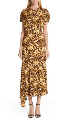 Victoria Beckham Asymmetrical Leopard Print Dress