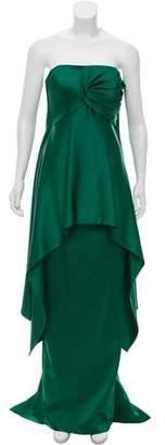 John Paul Ataker Satin Strapless Gown w/ Tags